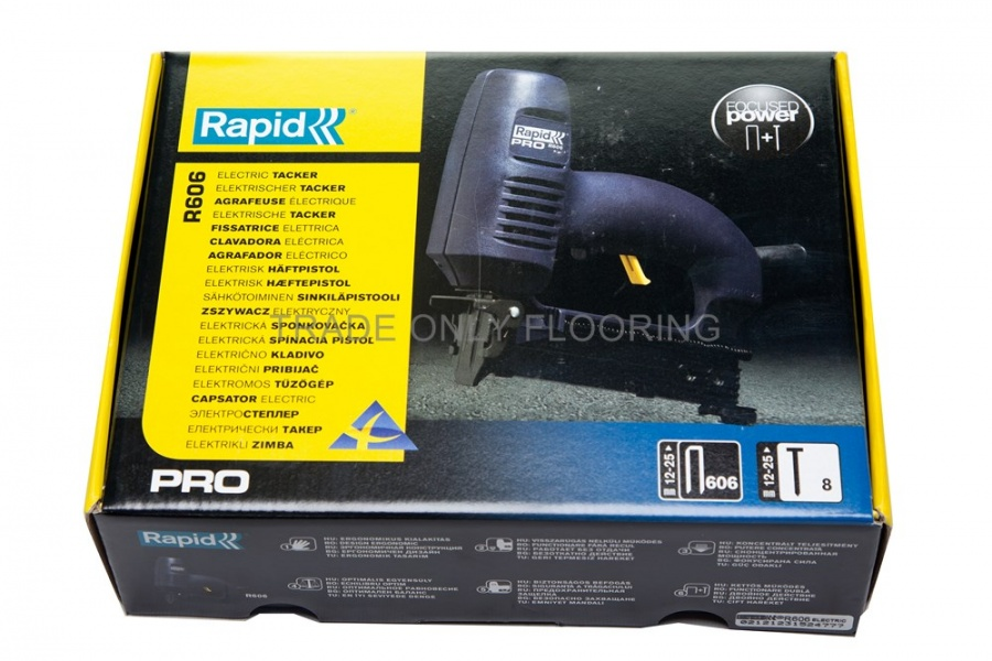 Rapid Pro R606 Electric Stapler Trade Only Flooring Supplies