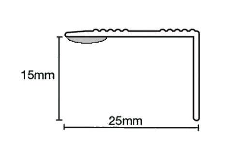 Stick Down Edge Profile 15mm Silver Just 163 83 60 Trade