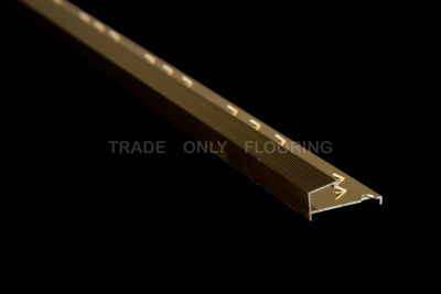 Classic Metal 240.9S Square Edge Raised Base Simbrass (2.7m x 15 lengths)