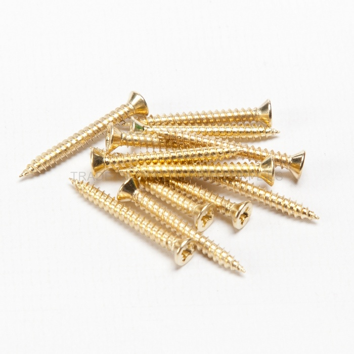 Brass Plated Wood Screws 25mm Trade Only Flooring Supplies