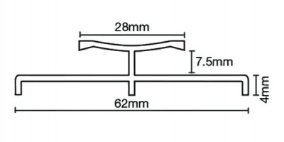 Max 224.9S Twingrip Heavy Duty Raised Base Simbrass (2.7m x 9 lengths)