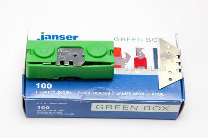 Blades Janser Green Box Straight Blades 50mm 100 Pack