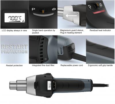 Steinel Hg2620e 240v Weld Gun Inc Nozzle Amp Case 239 191 189 290